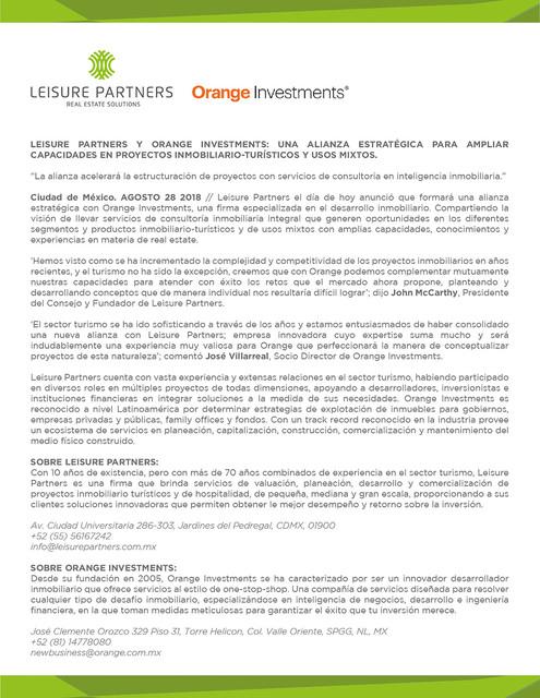 Carta Leisure Orange