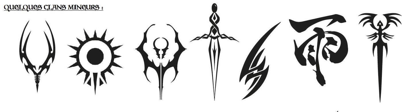 Symbole de clans mineurs