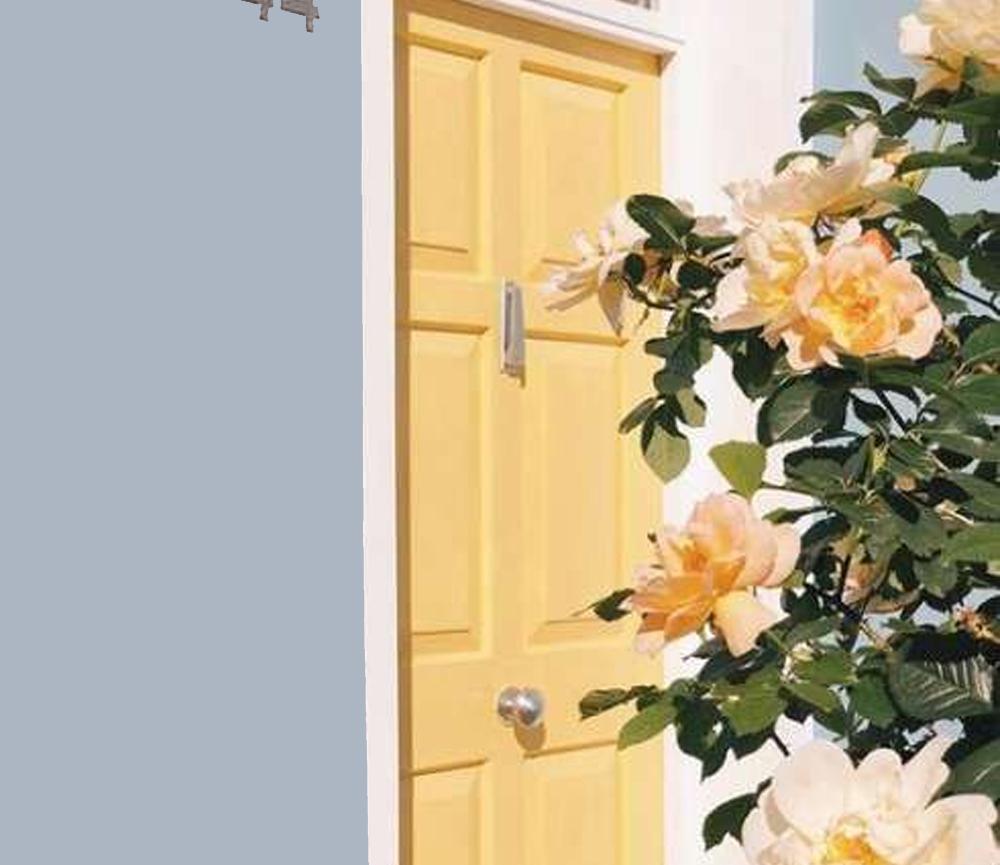Desain Pintu dengan Warna yang Cerah