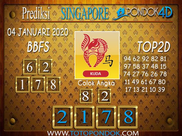 Prediksi Togel SINGAPORE PONDOK4D 04 JANUARI 2020