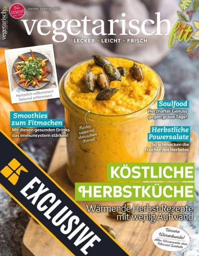 Cover: Vegetarisch Fit Magazin Herbst Spezial 2021