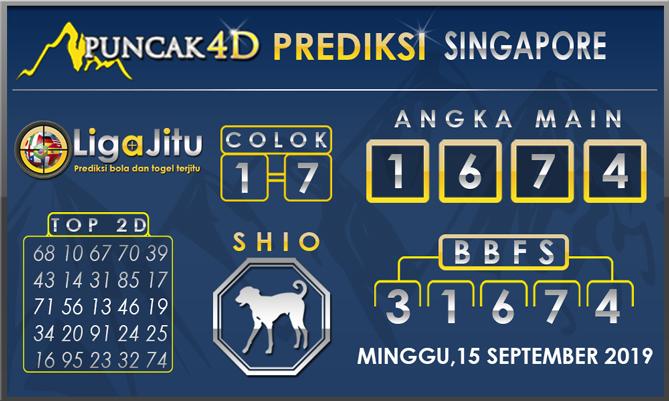 PREDIKSI TOGEL SINGAPORE PUNCAK4D 15 SEPTEMBER 2019