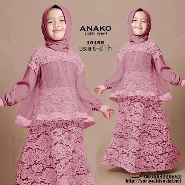 jual pakaian muslimah khusus anak anak anako dusty syarie 10182