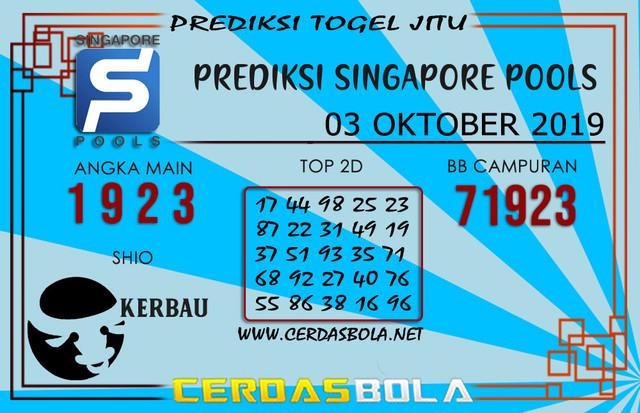 "Prediksi Togel ""SINGAPORE"" CERDASBOLA 03 OKTOBER 2019"