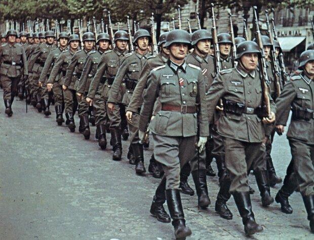 German troops. World War II
