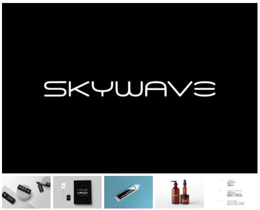 Skywave Font 11x TTF/OTF