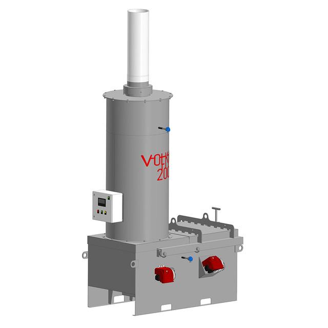 Удобное и безопасное обслуживание инсинератора VOLKAN 200