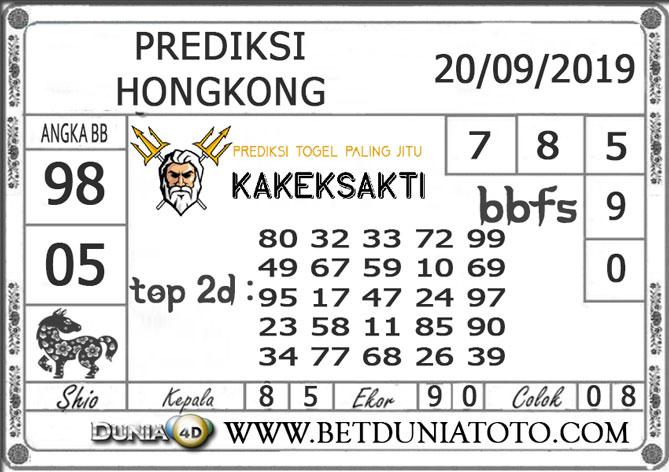 "Prediksi Togel ""HONGKONG"" DUNIA4D 20 SEPTEMBER 2019"