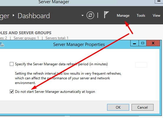 Server Manager Disable