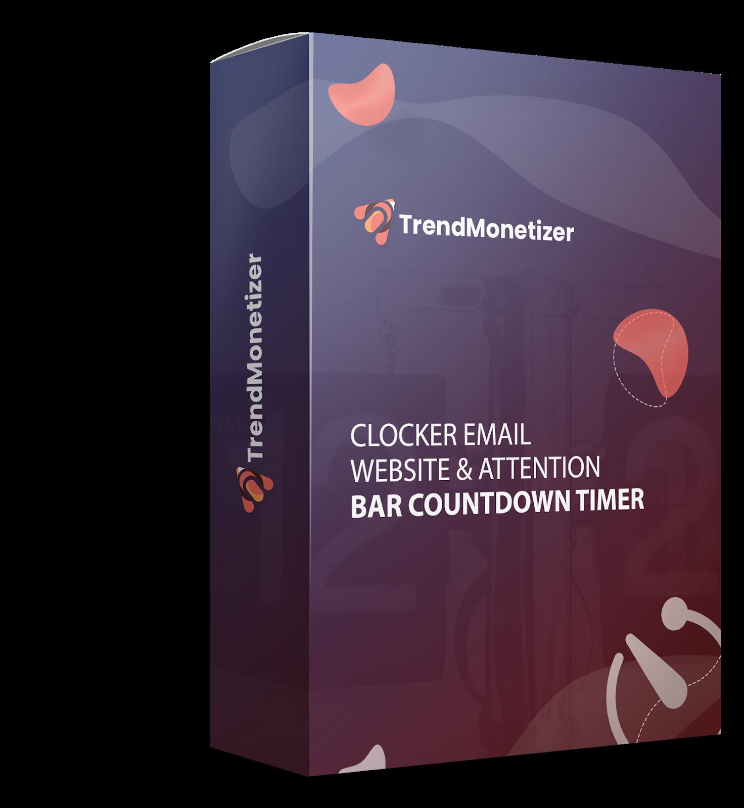 Clocker email, website & attention bar countdown timer