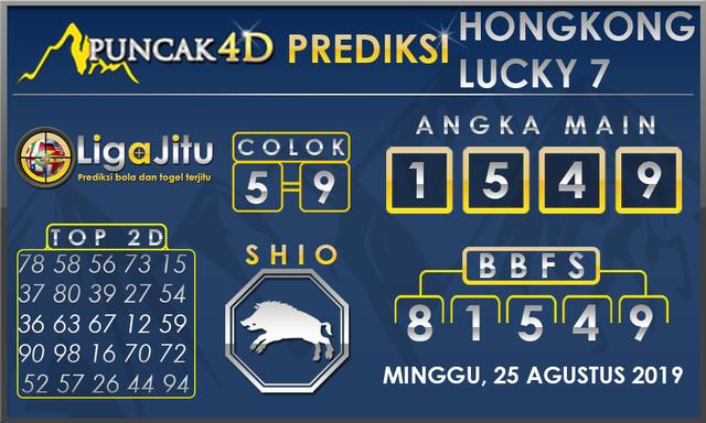 PREDIKSI TOGEL HONGKONG LUCKY7 PUNCAK4D 25 AGUSTUS 2019