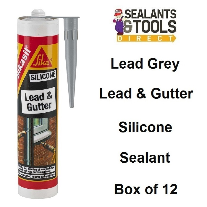 Sika Lead and Gutter Sealant 300ml Box of 12 SKSILLEAD