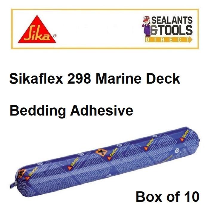 Sikaflex 298 Sika Marine Deck Bedding Decking Adhesive Box of 10