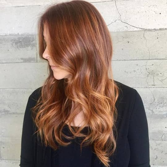 Auburn Hair with Strawberry Blonde Highlights-strawberry-styled-hair