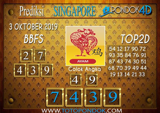 Prediksi Togel SINGAPORE PONDOK4D 3 OKTOBER 2019