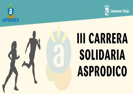La III Carrera Solidaria Asprodico tendrá lugar el 7 de Noviembre
