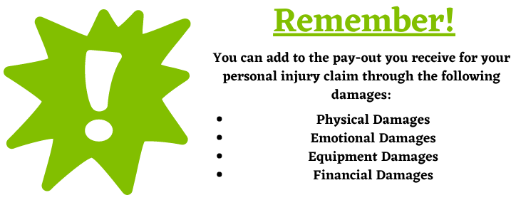 personal injury claims pay-outs for damages