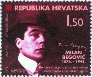 1998. year STAKNUTA-PERA-HRVATSKE-KNJI-EVNOSTI-50-OBLJETNICA-SMRTI-MILANA-BEGOVI-A