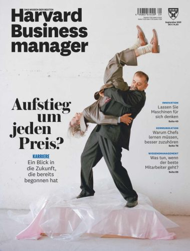 Cover: Harvard Business Manager Magazin No 09 2021