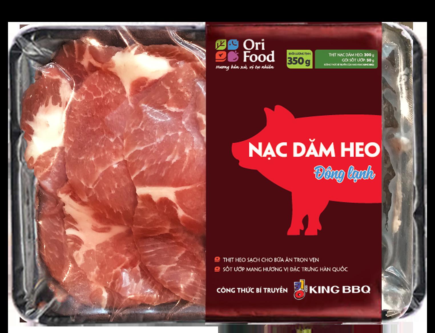 Nạc Dăm Heo Đông Lạnh (Có Tẩm Ướp)- Khay- 350gr- Ori Food