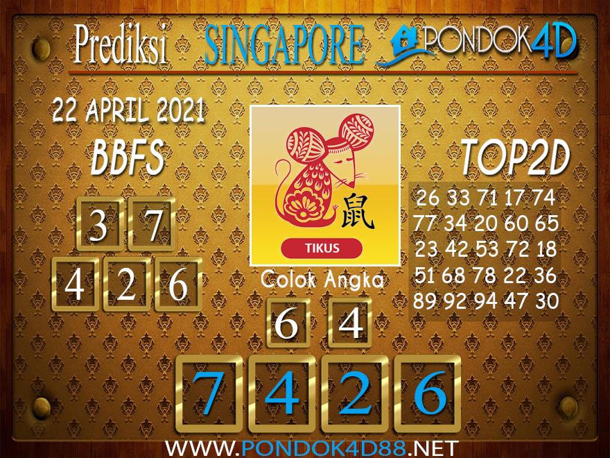 Prediksi Togel SINGAPORE PONDOK4D 22 APRIL 2021