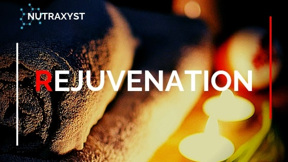 Rejuvenation. Towel with candles in a cozy atmosphere.