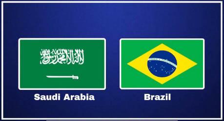 Watch Online Brazil vs Saudi Arabia Live Streaming