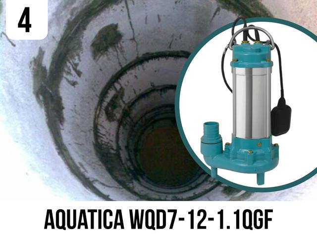 Фекальний насос Aquatica WQD7-12-1.1QGF