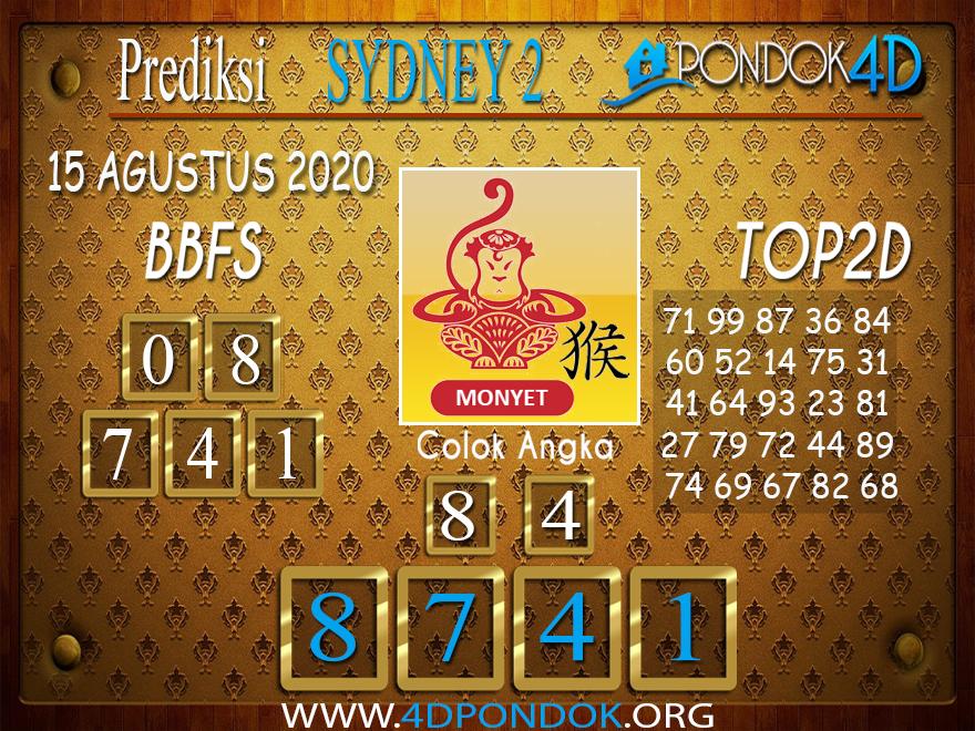 Prediksi Togel SYDNEY 2 PONDOK4D 15 AGUSTUS 2020