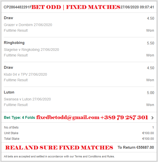 REAL AND SURE FIXED MATCHES, VIP FIXED MATCHES