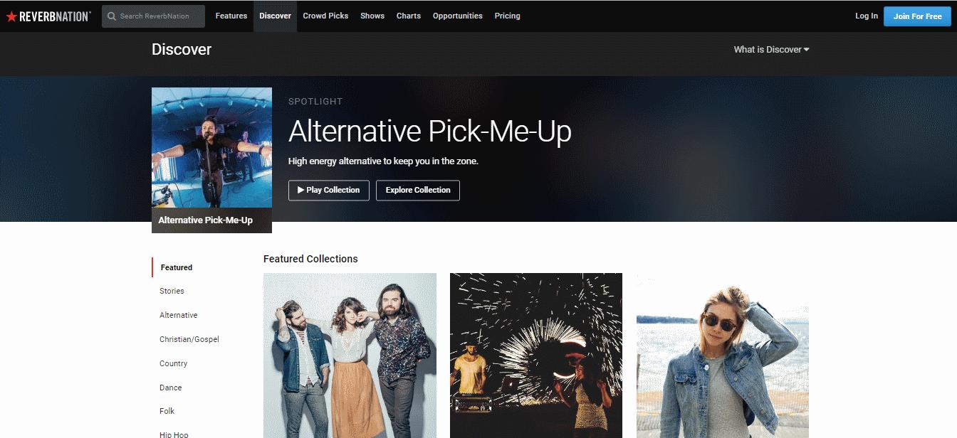 reverbnation - Mejores Sitios de Descargas Gratuitas de Música