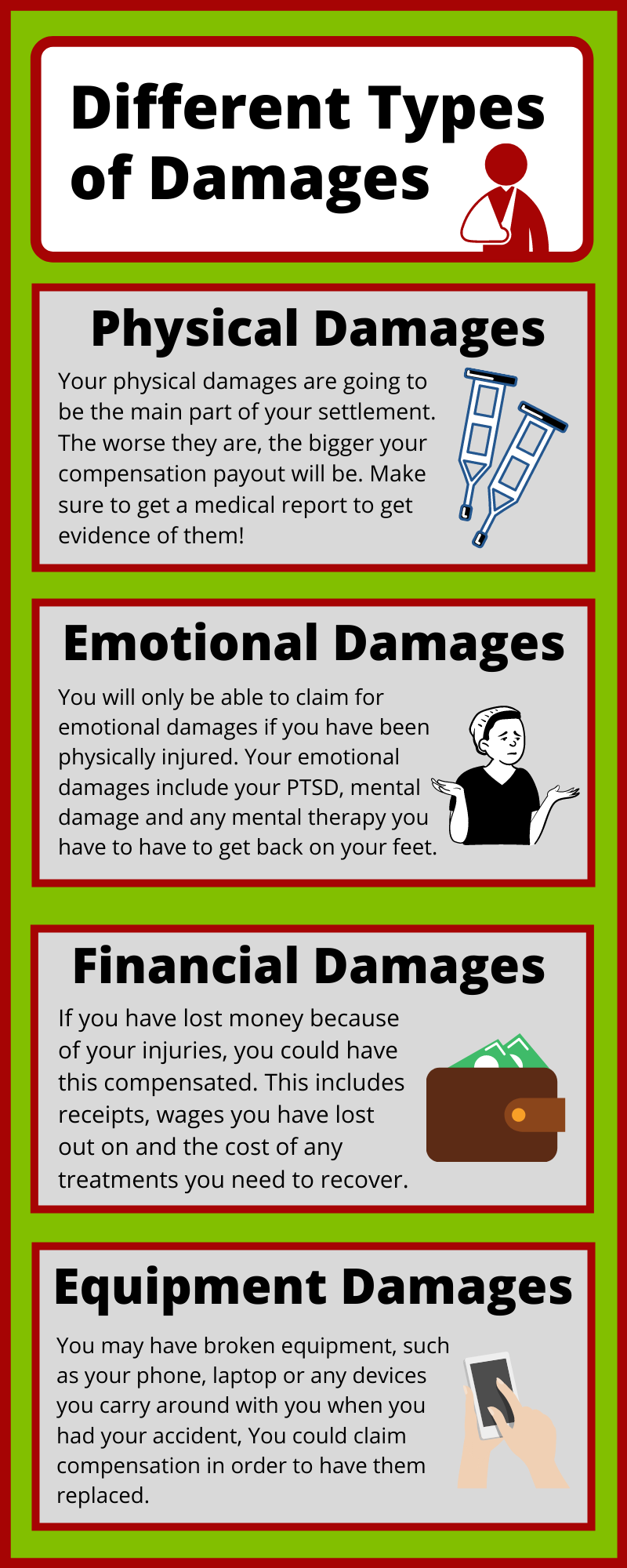 Different Types of Damages with Public Accidents Claim