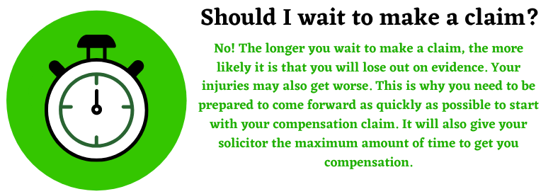 Should I wait to make a compensation case?