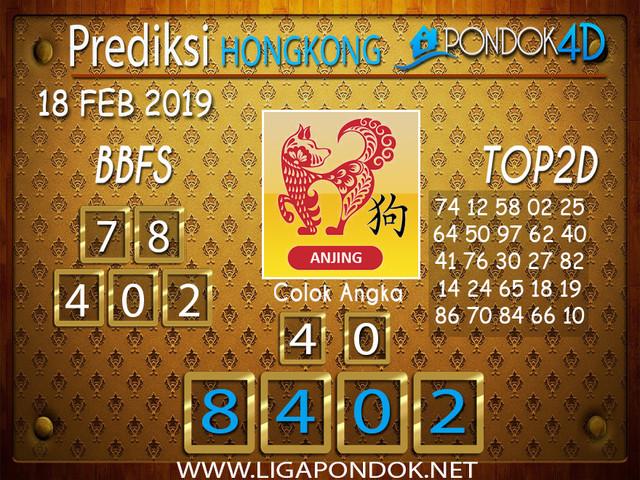 Prediksi Togel HONGKONG PONDOK4D 18 FEBRUARI 2019