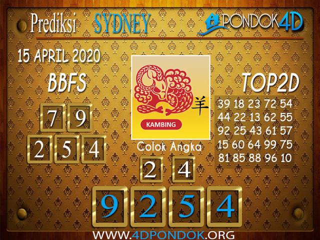 Prediksi Togel SYDNEY PONDOK4D 15 APRIL 2020