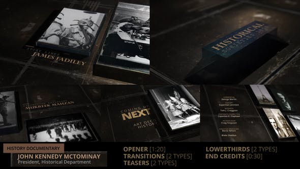 Videohive - History Documentary Broadcast Pack - 24821764