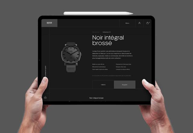 Site e-commerce Apose