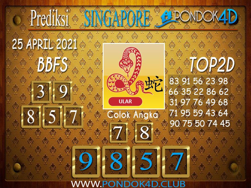 Prediksi Togel SINGAPORE PONDOK4D 25 APRIL 2021