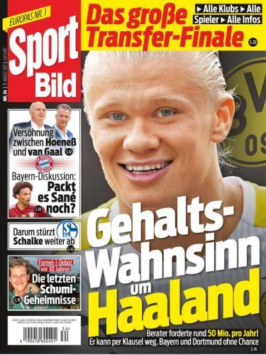 Cover: Sport Bild Magazin No 34 vom 25  August 2021