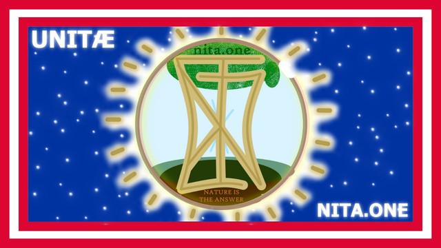 AMERICA VERSION UNITA NITA Nature Is The Answer Flag Design