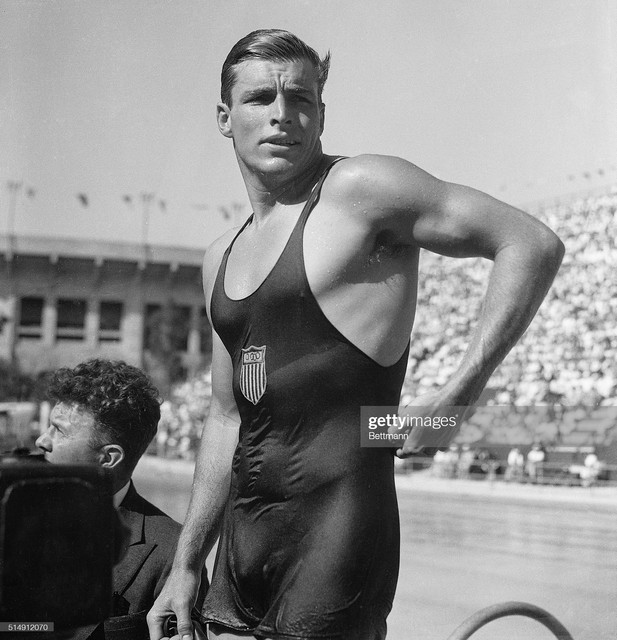 After-winning-gold-in-the-400-meter-freestyle-event-at-the-Los-Angeles-Olympic-Games-Buster-Crabbe-o