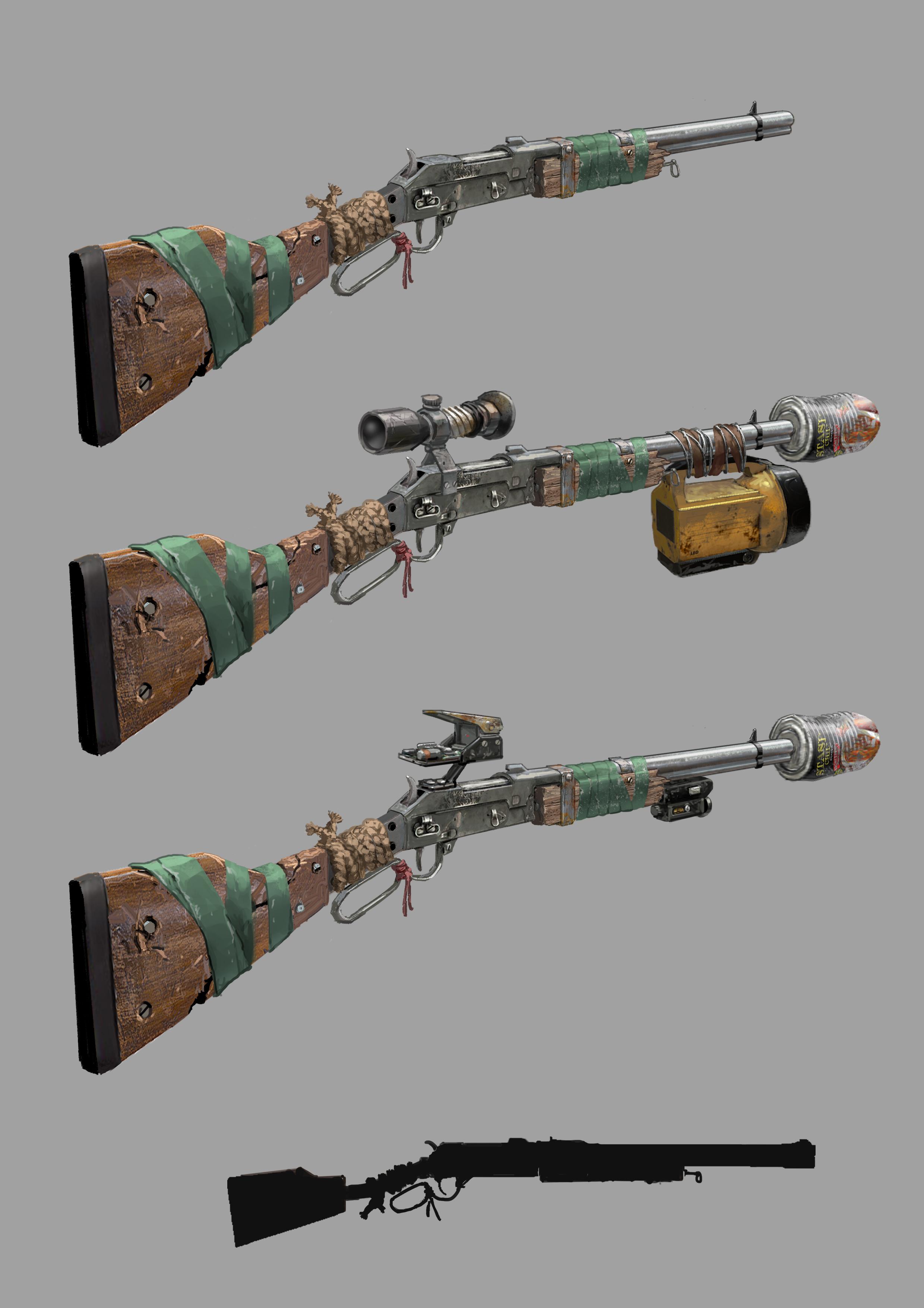 Разработчики 7DtD показали концепт примитивной винтовки, которая должна появится в 20 Альфе.