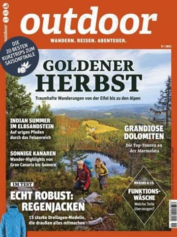 Cover: Outdoor Magazin No 11 November 2021