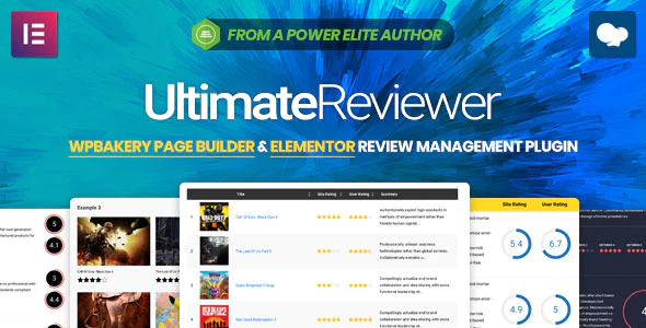 CodeCanyon - Ultimate Reviewer v2.2.1 - Elementor & WPBakery Page Builder Addon - 23101267