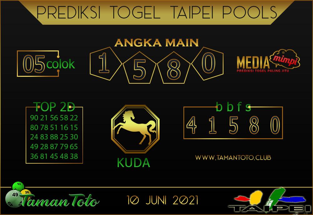 Prediksi Togel TAIPEI TAMAN TOTO 10 JUNI 2021