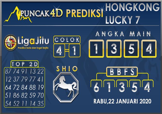 PREDIKSI TOGEL HONGKONG LUCKY7 PUNCAK4D 22 JANUARI 2020