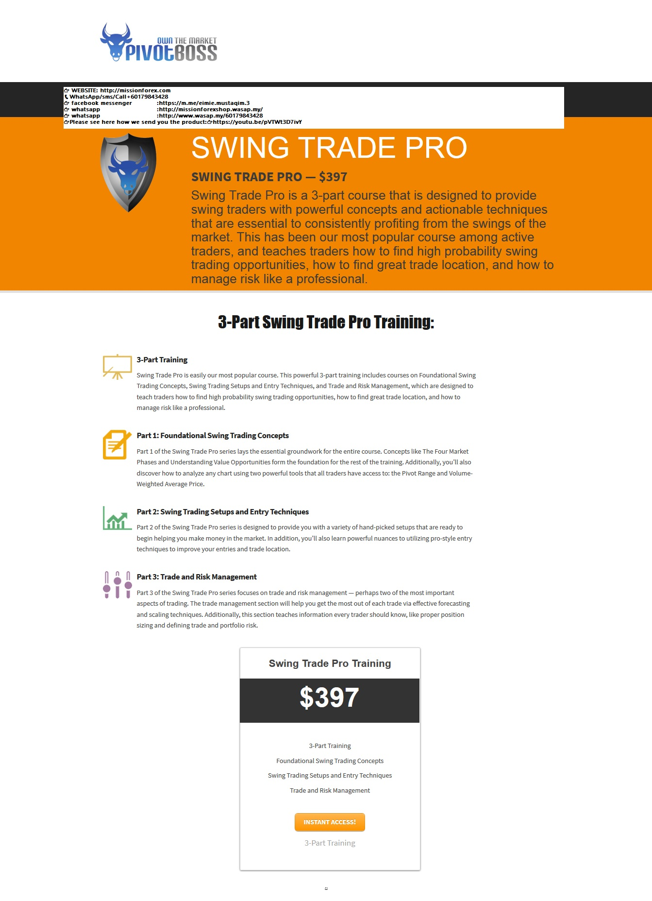 SWING TRADE PRO Swing Profits — PivotBoss Own the Market