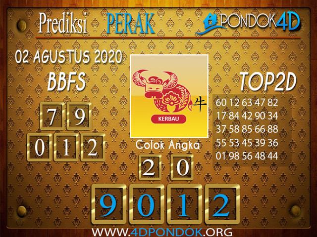 Prediksi Togel PERAK PONDOK4D 02 AGUSTUS 2020