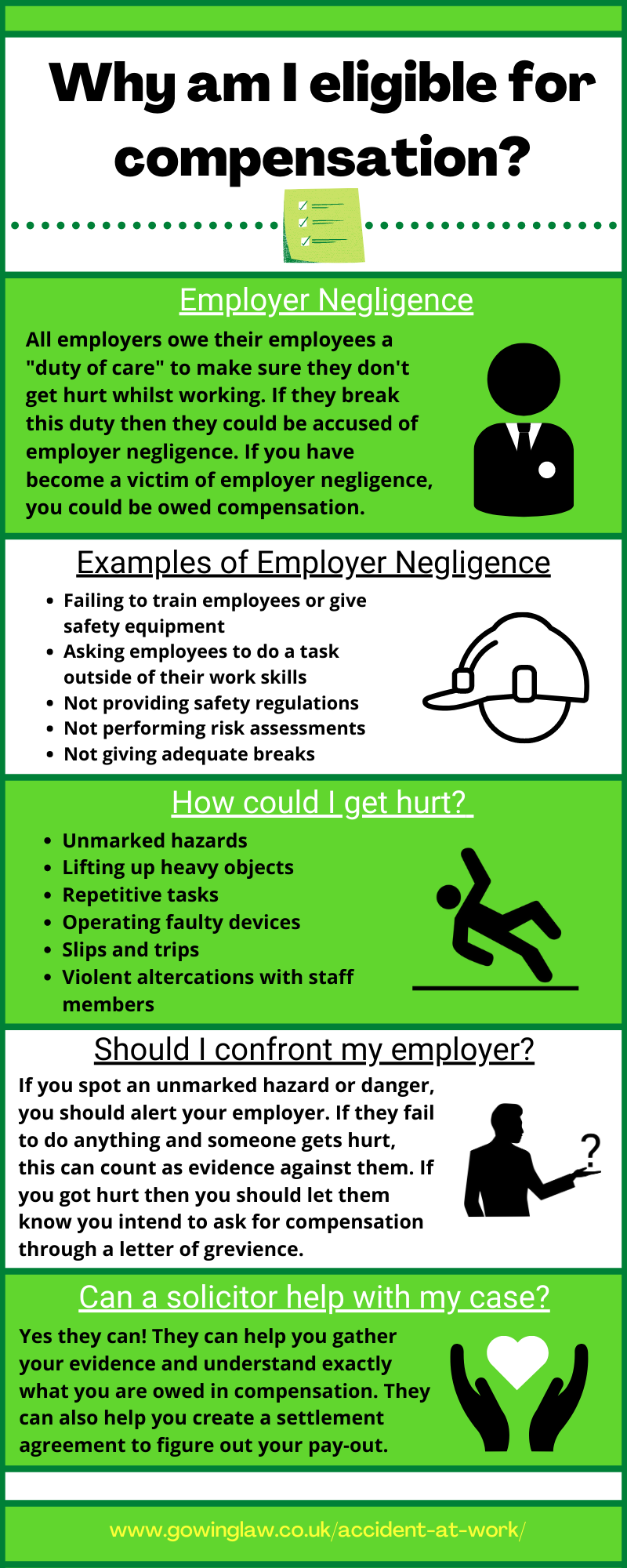 Are you eligible for compensation infographic