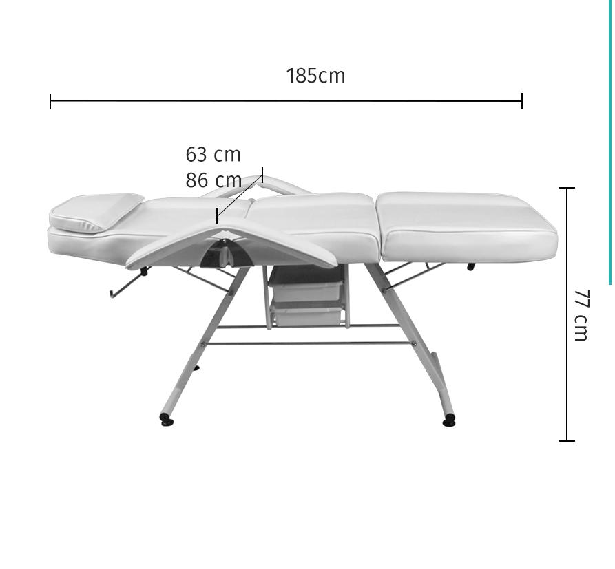 Maca Poltrona Fixa Luxo Estética com 2 Gavetas - Estek img5